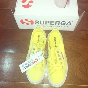 Super sneakers - brand new - lime yellow - size 6